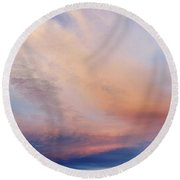 Clouds Round Beach Towel by Les Cunliffe