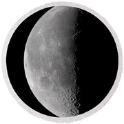 23 Day Old Waning Moon Round Beach Towel
