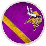 Minnesota Vikings Round Beach Towel