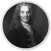 Voltaire (1694-1778) Round Beach Towel