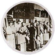 Wwi Refugees, 1918 Round Beach Towel