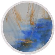 Abstract Exhibit Round Beach Towel