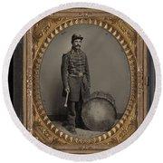 Civil War Soldier, C1863 Round Beach Towel