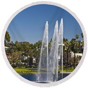 Echo Park L A Round Beach Towel
