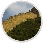 Great Wall Of China Round Beach Towel