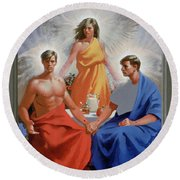 24. The Trinity / From The Passion Of Christ - A Gay Vision Round Beach Towel