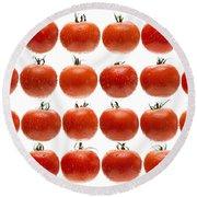 24 Tomatoes Round Beach Towel