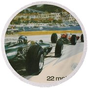 24th Monaco Grand Prix 1966 Round Beach Towel