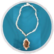 Aphrodite Gamelioi Necklace Round Beach Towel
