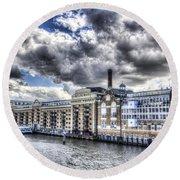 Butlers Wharf London Round Beach Towel
