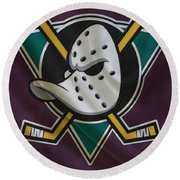 Anaheim Ducks Round Beach Towel