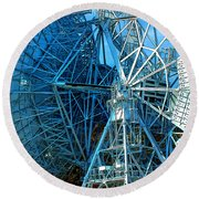 26 East Antenna Abstract 1 Round Beach Towel