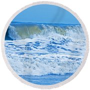 Hurricane Storm Waves Round Beach Towel