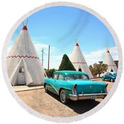 Route 66 Wigwam Motel Round Beach Towel