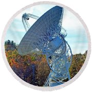 26 West Antenna At Pari Round Beach Towel