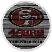 San Francisco 49ers Round Beach Towel by Joe Hamilton