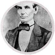 Abraham Lincoln (1809-1865) Round Beach Towel