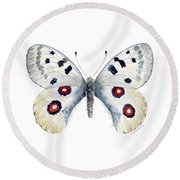 28 Apollo Butterfly Round Beach Towel