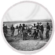 Civil War Black Troops Round Beach Towel