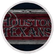 Houston Texans Round Beach Towel
