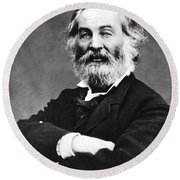 Walt Whitman (1819-1892) Round Beach Towel