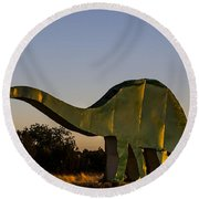 2d Brontosaurus Round Beach Towel