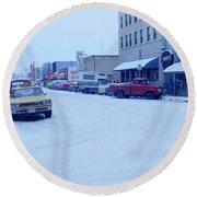 2nd Street Fairbanks Alaska 1969 Round Beach Towel