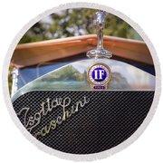 1922 Isotta-fraschini Round Beach Towel