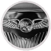 1933 Pontiac Emblem Round Beach Towel