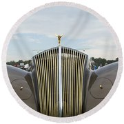 1937 47 Rolls Royce Round Beach Towel