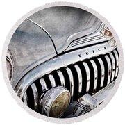 1947 Buick Eight Super Grille Emblem Round Beach Towel