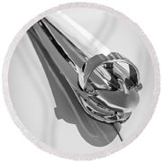 1947 Chevrolet Deluxe Hood Ornament Round Beach Towel