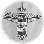 1948 Chrysler Town And Country Sedan Emblem Round Beach Towel