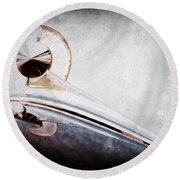1949 Ford Hood Ornament Round Beach Towel