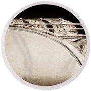 1950 Plymouth Hood Ornament Round Beach Towel