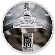 1952 Rolls-royce Hood Ornament Round Beach Towel