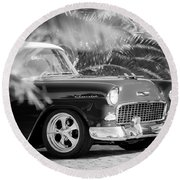 1955 Chevrolet 210 Round Beach Towel by Jill Reger