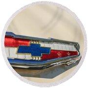 1955 Chevrolet Belair Emblem Round Beach Towel