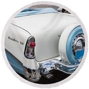 1956 Chevrolet Bel Air Convertible Round Beach Towel