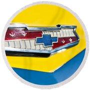 1956 Chevrolet Belair Emblem Round Beach Towel