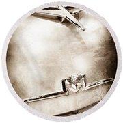 1956 Mercury Monterey Hood Ornament - Emblem Round Beach Towel