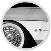 1957 Chevrolet Corvette Wheel Emblem Round Beach Towel