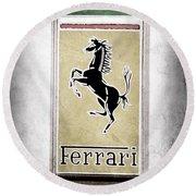 1959 Ferrari 250 Gt Emblem Round Beach Towel