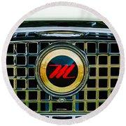 1959 Nash Metropolitan Grille Emblem Round Beach Towel
