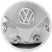 1959 Volkswagen Vw Panel Delivery Van Emblem Round Beach Towel