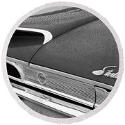 1960 Ford Galaxie Starliner Taillight Emblem Round Beach Towel by Jill Reger