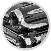 1962 Dodge Polara 500 Taillights Round Beach Towel