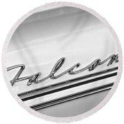 1963 Ford Falcon Futura Convertible   Emblem Round Beach Towel