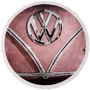 1964 Volkswagen Vw Double Cab Emblem Round Beach Towel
