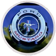 1965 Shelby Prototype Ford Mustang Emblem Round Beach Towel